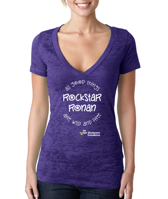 Image of Rockstar Ronan Burnout Ladies V-Neck
