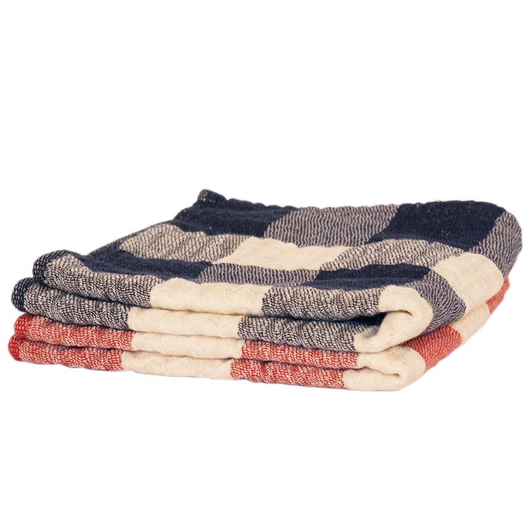 Image of Japanese Vintage Check Towels