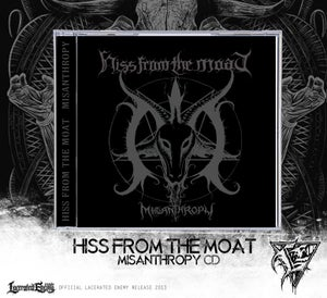 Image of HISS FROM THE MOAT - Misanthropy - CD