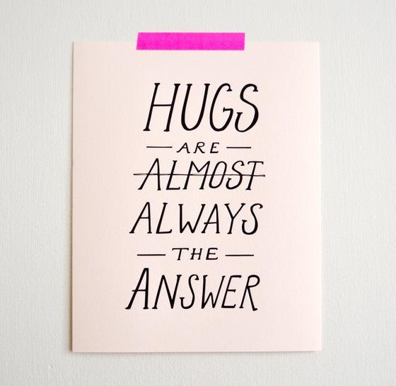 Image of HUGS print