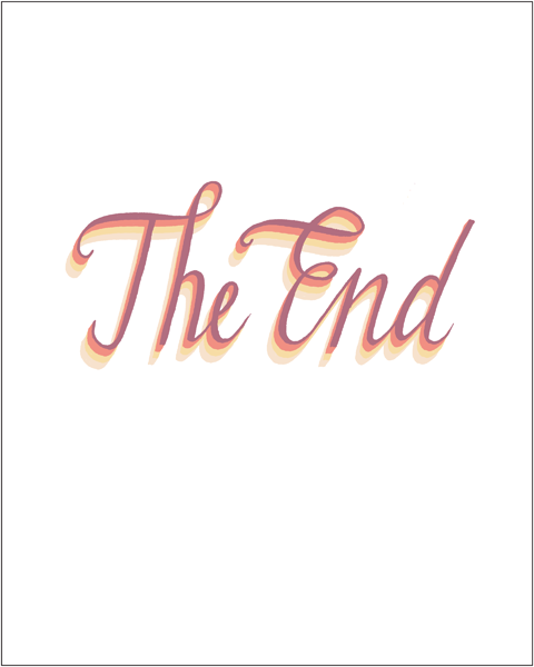Image of The End (light) - 8x10