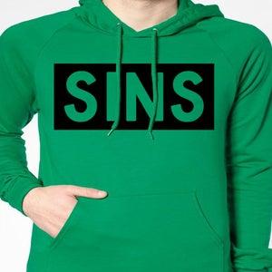 Image of SINS LIFE GREEN HOODIE