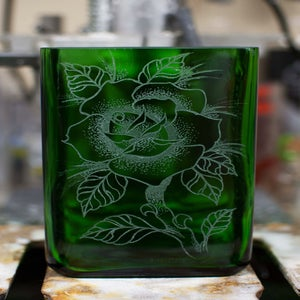 Image of Custom Etched Jagermeister Vase