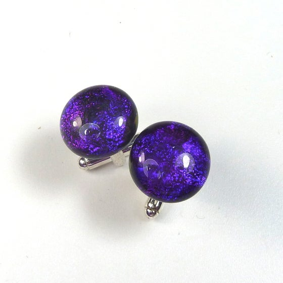 Image of Purple Dichroic Cuff Links