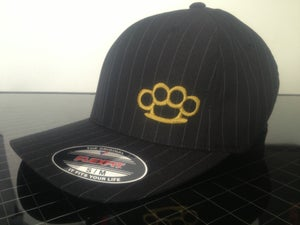 Image of PINSTRIPE STRIPE BRASS KNUCLE HAT