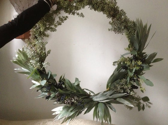 Image of Eucalyptus and Berry Wreath