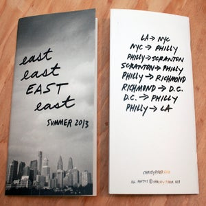 "Image of ""EAST"" photo zine."