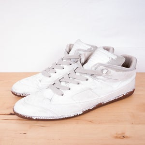 Image of Martin Margiela - Painted Classic Hi-Top Trainers
