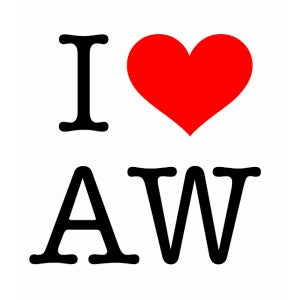 Image of I Love AW (white)