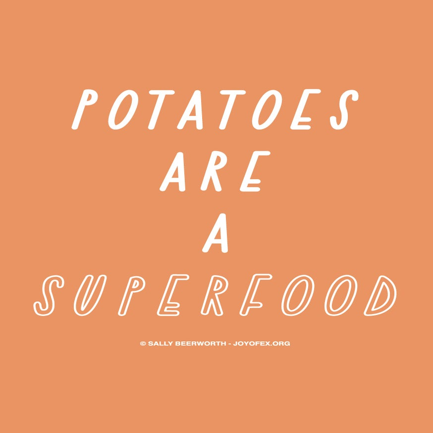 Image of Potatoes are a Superfood Thanksgiving & Christmas Greetings Card