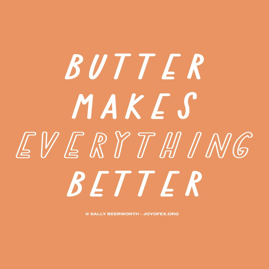 Image of Butter Makes Everything Better Thanksgiving & Christmas Greetings Card