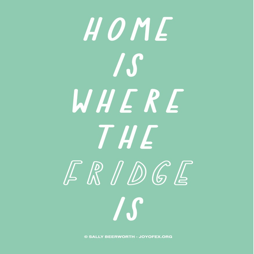 Image of Home Is Where the Fridge Is Thanksgiving & Christmas Greetings Card