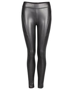 Image of Black leather - side seam