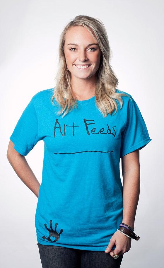 Image of Art Feeds California Blue Tee