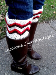 """Image of """"Chasing Chevrons"""" Boot Cuffs"""