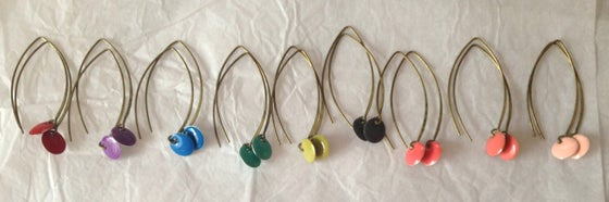 Image of boucles d'oreilles sequins