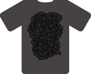 Image of GREY TO THE BONES TSHIRT (black design)