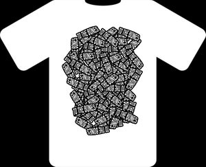 Image of WHITE TO THE BONES TSHIRT.