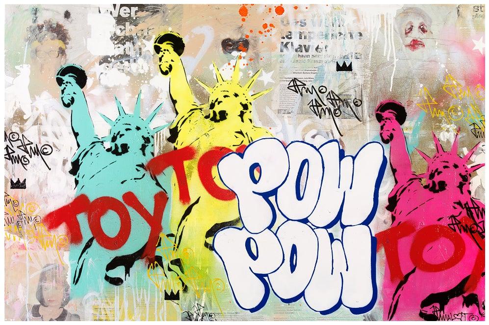 Image of 'TOY' feat. POW STREET ART JP MALOT 80x120 cm