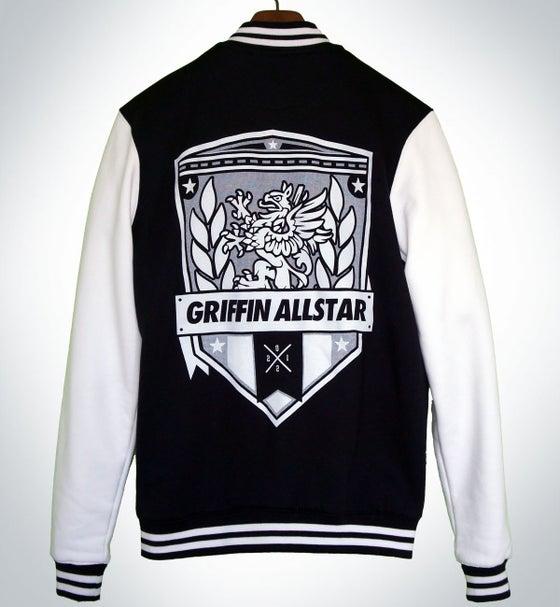 Image of Varsity Jacket Black/ White