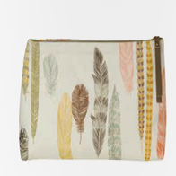 Image of Quill Linen Large Cosmetic Bag