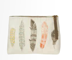 Image of Quill Linen Small Cosmetic Bag