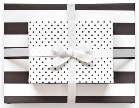 Image of Reversible Wrap- black & white