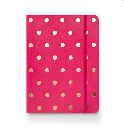 Image of Polka Dot Journal, Raspberry