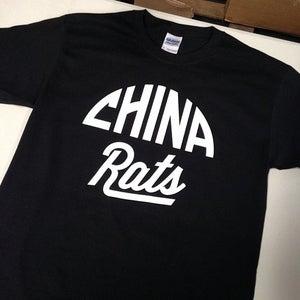 Image of Black China Rats Logo T-Shirt