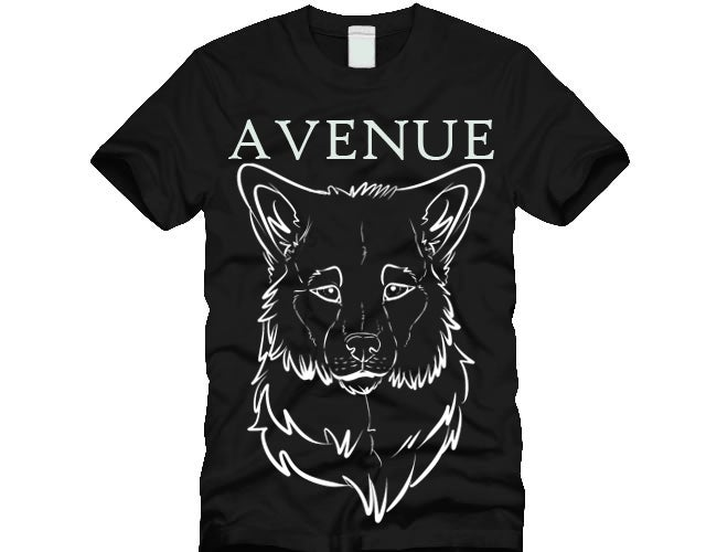Image of Black Avenue Wolf Tee