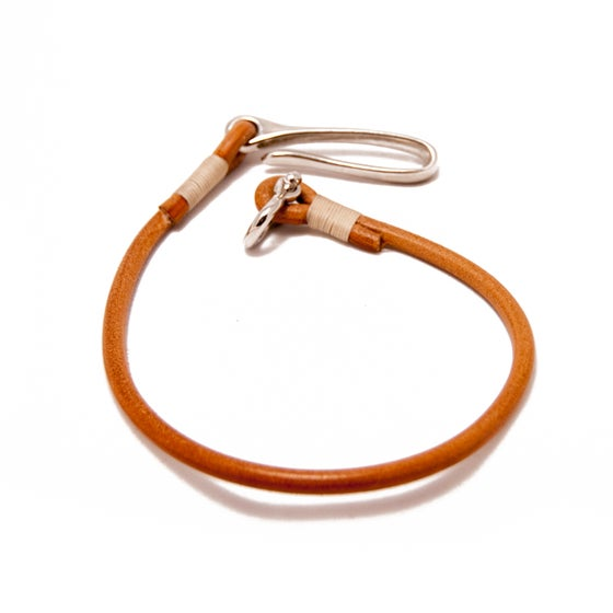 Image of Hook n' Shackle - Natural leather lanyard