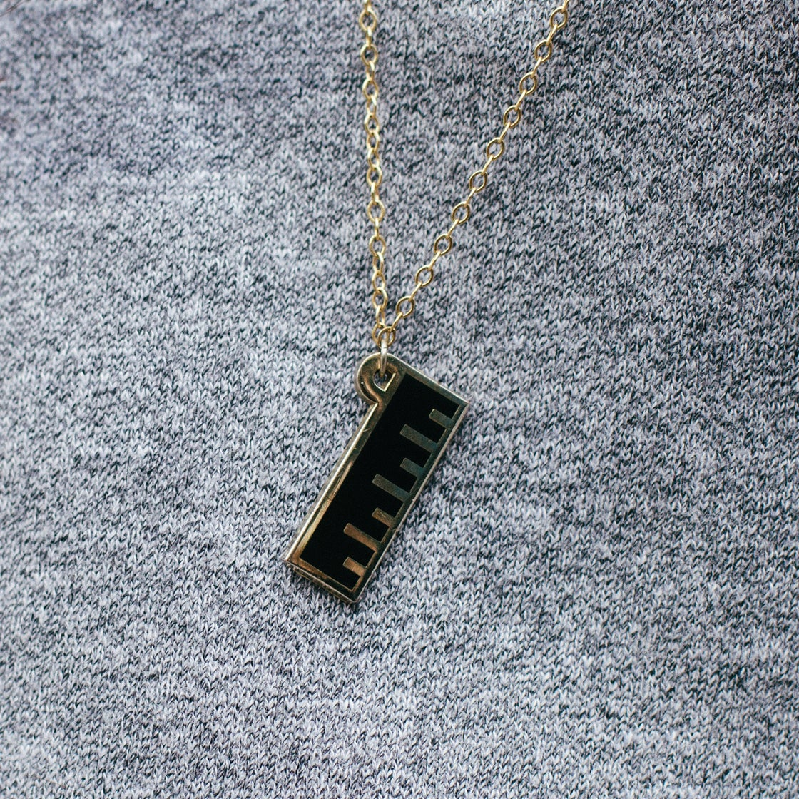 Image of Enamel Ruler Necklace