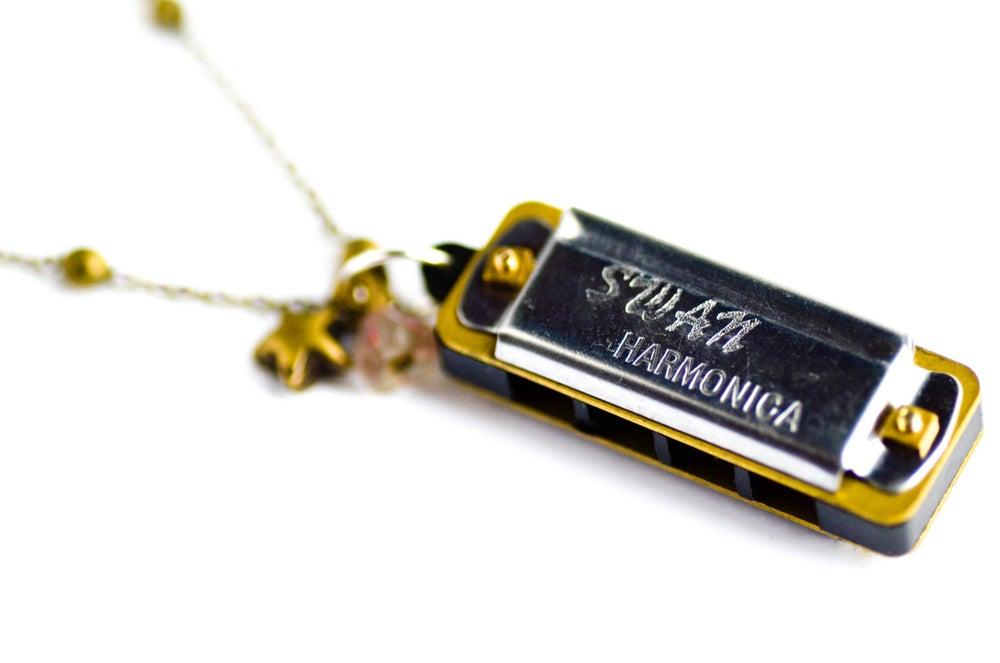 Image of Sautoir véritable mini harmonica