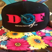 Image of DEFinition of FLY Pink Daisy Brim Snapback Cap