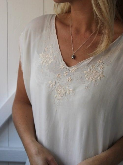 Image of 'mighty oaks' tiny acorn necklace
