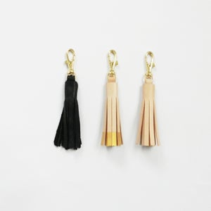 Image of Leather Tassel Key Fob
