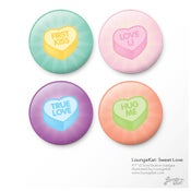 "Image of 1"" Button Badges - Sweet Love"
