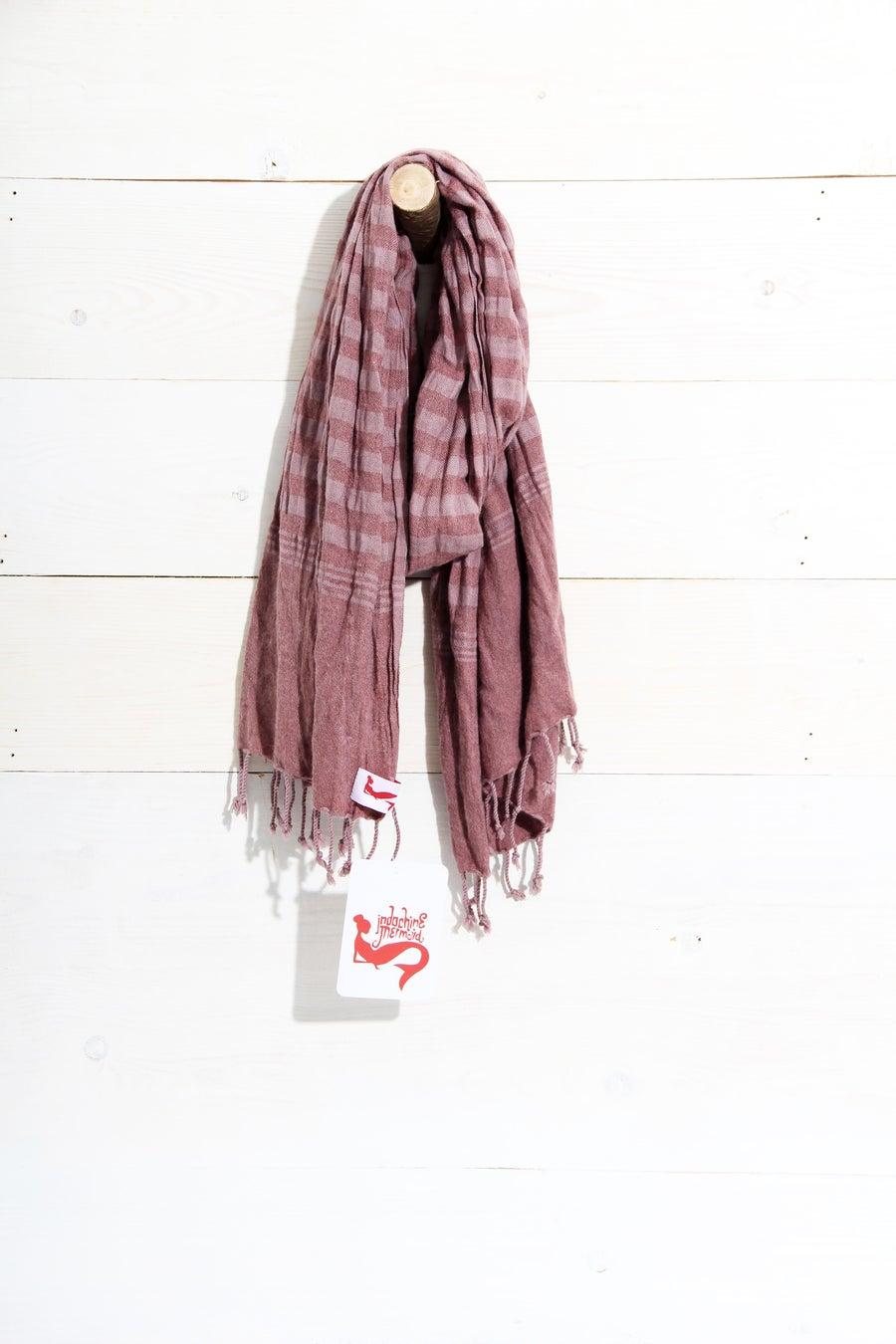 Image of schal au Baumwolle ∞ cotton scarf ∞ Altrosa