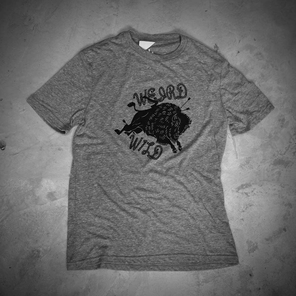 Image of WEIRD - WILD  GREY TEE