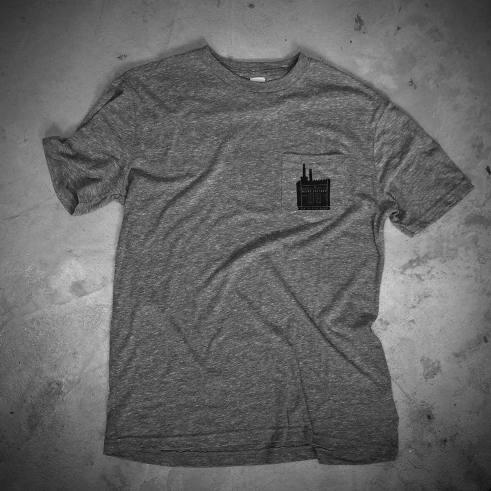 Image of WEIRD POCKET - GREY TEE  - FACTORY