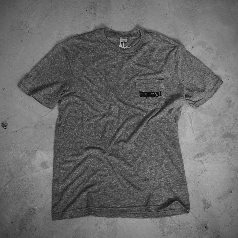 Image of WEIRD POCKET - GREY TEE - SAW