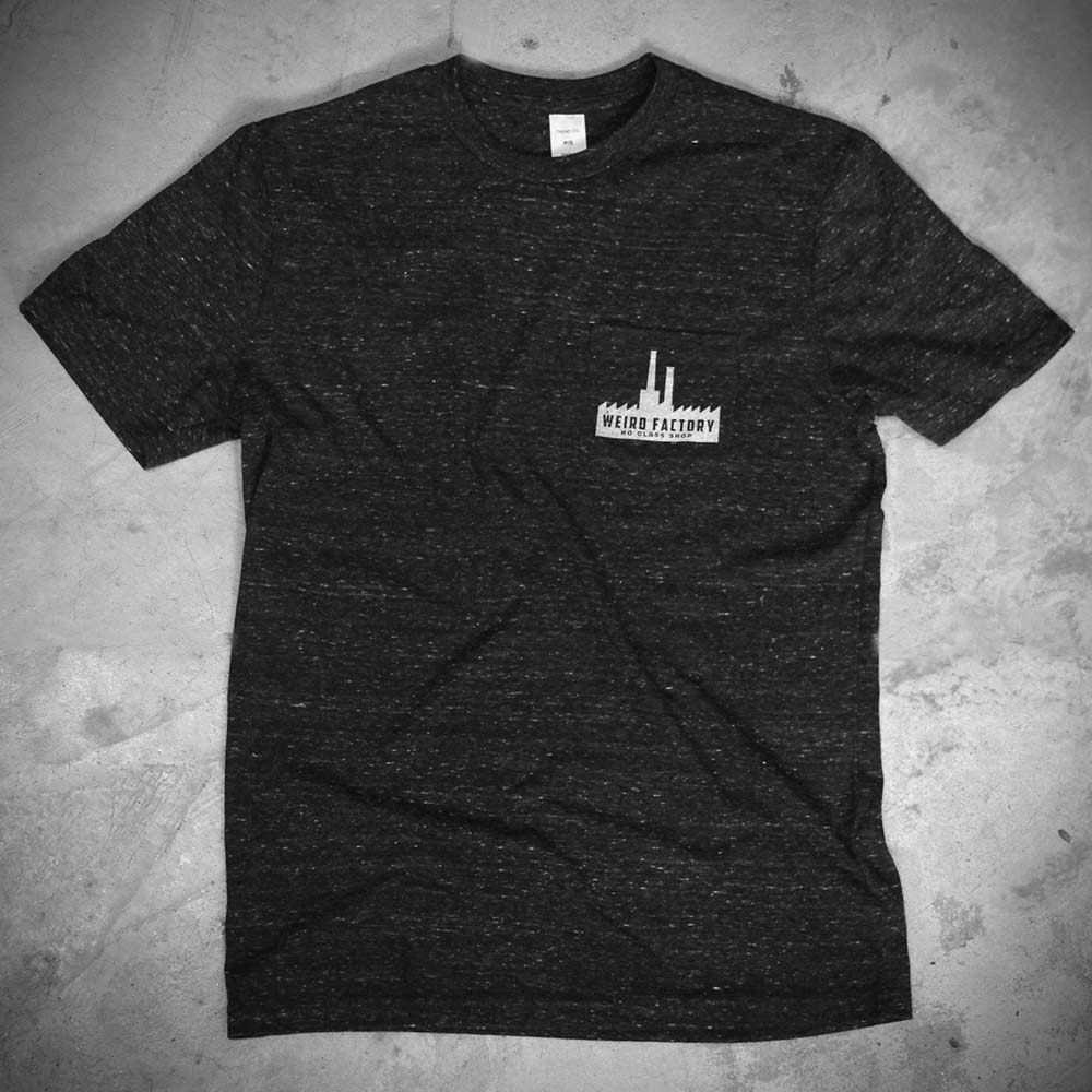 Image of WEIRD POCKET - DARK GREY TEE - SKYLINE