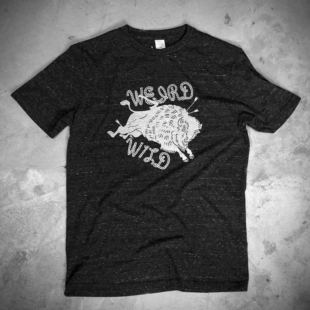 Image of WEIRD - WILD BLACK TEE