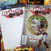 Image of HARLEY QUINN #0 BLANK VARIANT + REGULAR :: ART EXHIBITION ENTRY