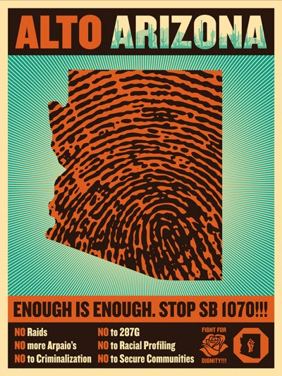 Image of Alto Arizona Finger Print State Sticker