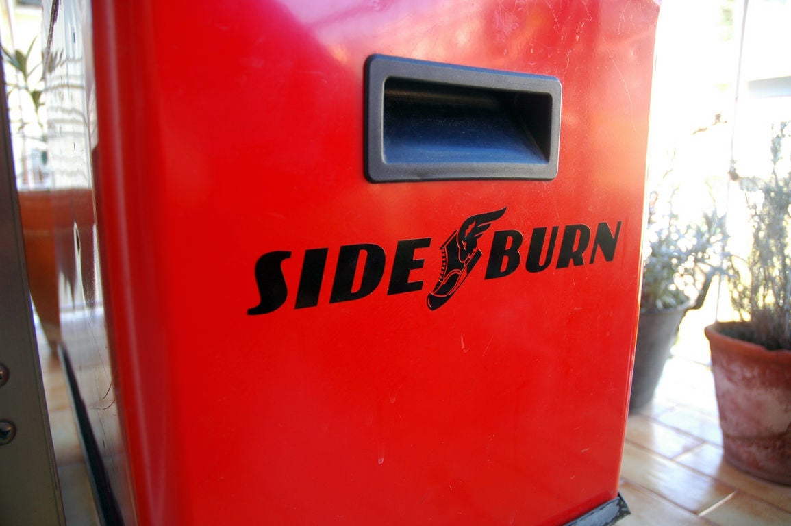Image of Sideburn Wingboot Rub-on sticker