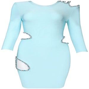 Image of Rhinestoned Bandage Bodycon Pencil Dress