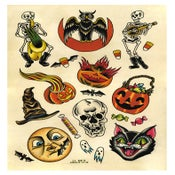 Image of Halloween Tattoo Flash