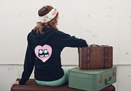 """Image of """"Panda Bums in Love"""" Zipper Hoodie"""