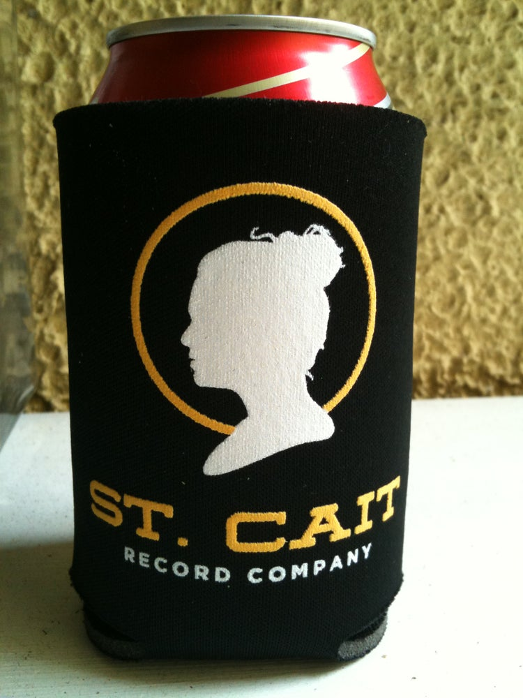 Image of St. Cait Record Company Koozie